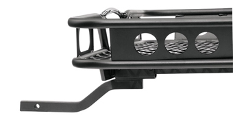 hitch mounted cargo carrier side